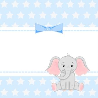 象のイラスト付きグラフィックス