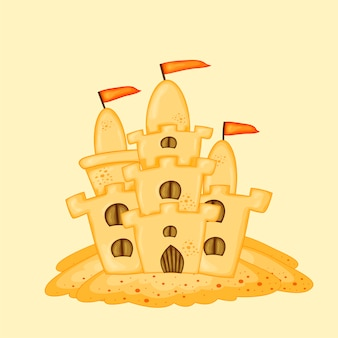 Замок из песка. летний мультфильм