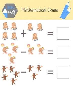 Рабочая тетрадь по математике для дошкольного образования. пазлы для детей. учись считать. решите примеры
