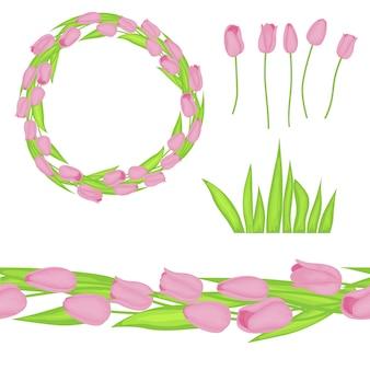 Весенний комплект с тюльпанами