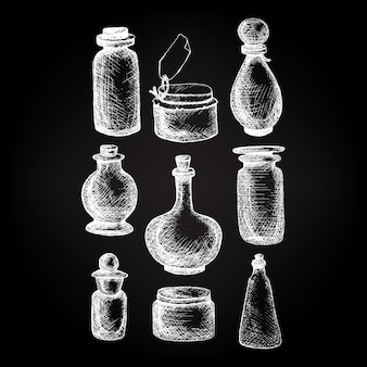 ビンテージの瓶とボトル