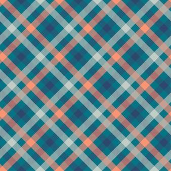 タータンブルー色のシームレスなベクターパターン