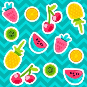夏の果物のパターン