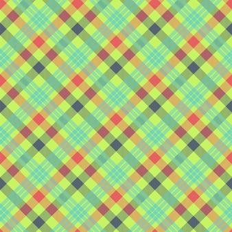タータンマルチカラーのシームレスパターン