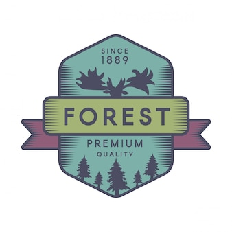 森の色のロゴのテンプレート
