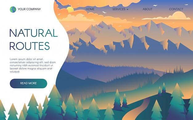 Шаблон целевой страницы горных поездок