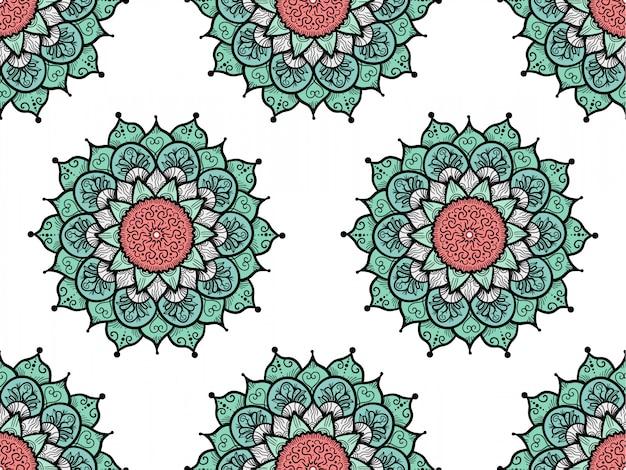 手描きのマンダラシームレスパターン