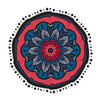 アラビア語、インド、イスラム、オスマン文化の装飾スタイルで手描きのマンダラ