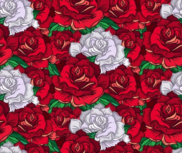 Ручная вырисованная свадебная роза
