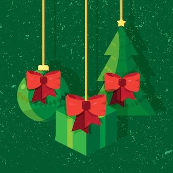 メリークリスマスとハッピーニューイヤーのおもちゃ
