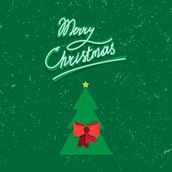 メリークリスマステキストの手書きのレタリング