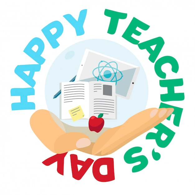 ハッピー教師の日お祝いバナー