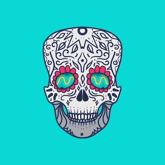 メキシコの詳細な頭蓋骨
