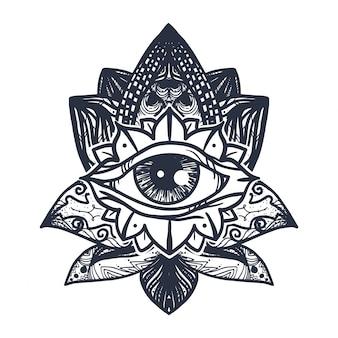 ロータスタトゥーの目