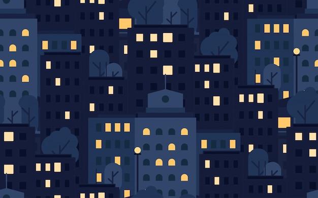 市のシームレスパターン