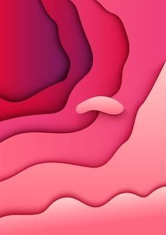 Абстрактный фон бумаги вырезать розовый