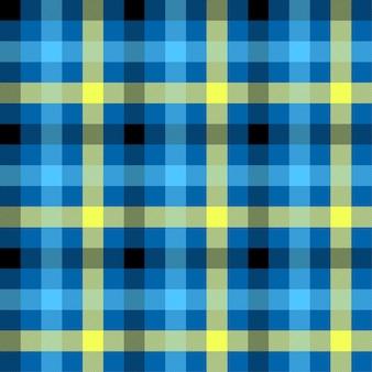 タータンブルーの色のシームレスパターン