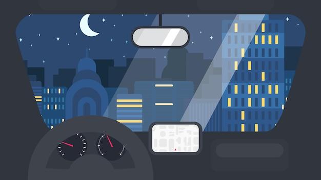 Городская жизнь из машины