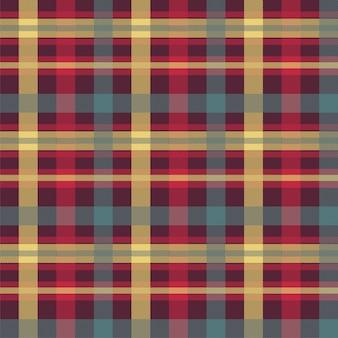格子縞の赤い色のシームレスなベクターパターン