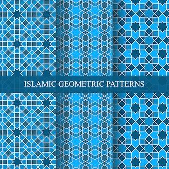 イスラム風のシームレスな幾何学模様のコレクション