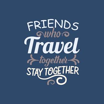 Типография цитаты путешествия.