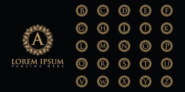 Набор роскошных букв с логотипом