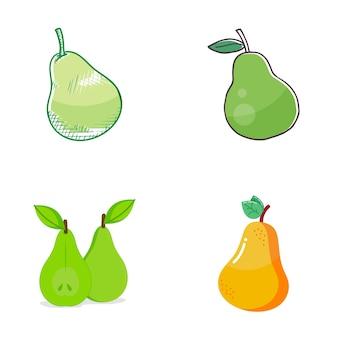 Логотип груши фруктов