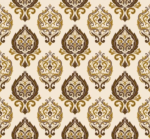 装飾的なダマスカスクリームパターン