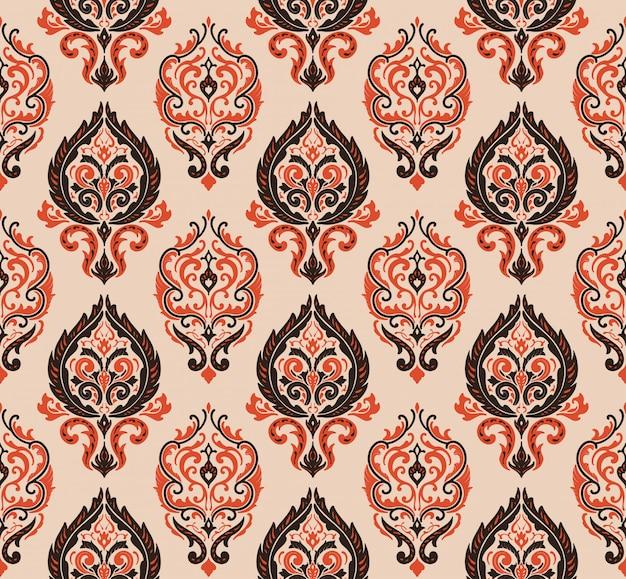 装飾的なダマスカスパターン