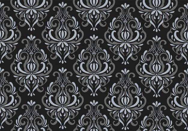 装飾的なダマスカスブラックパターン