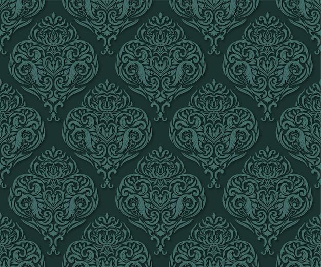 古典的な緑のシームレスパターン