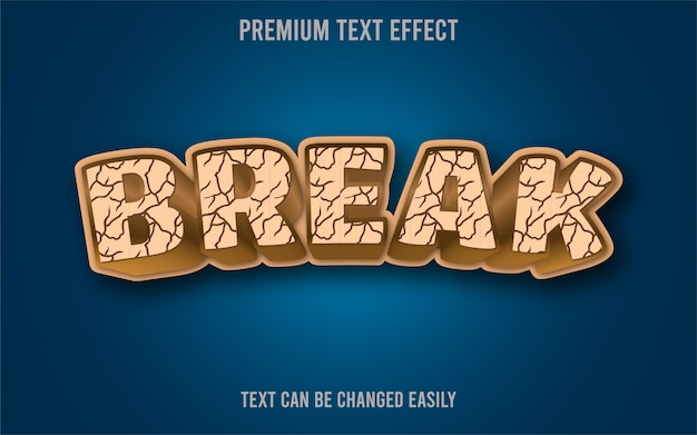 Разрыв текстового эффекта