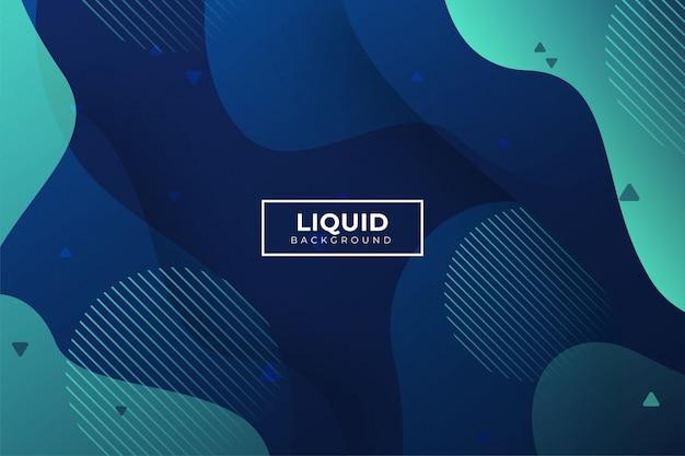 モダンな抽象的な液体形状の背景