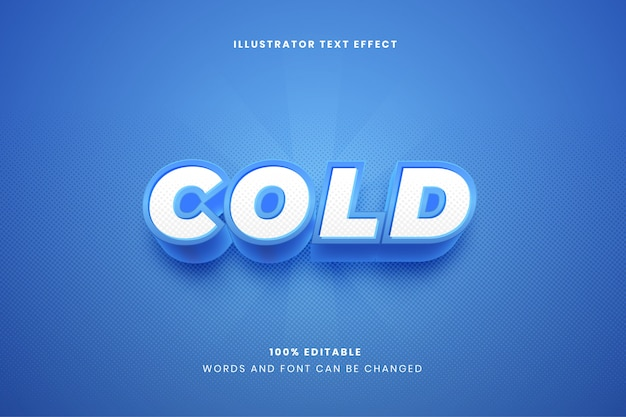 Эффект холодного текста