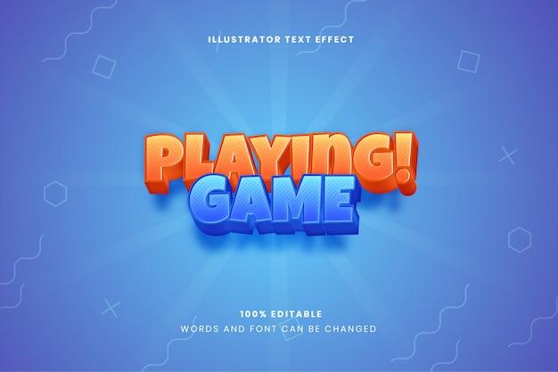 Играя в текстовый эффект игры