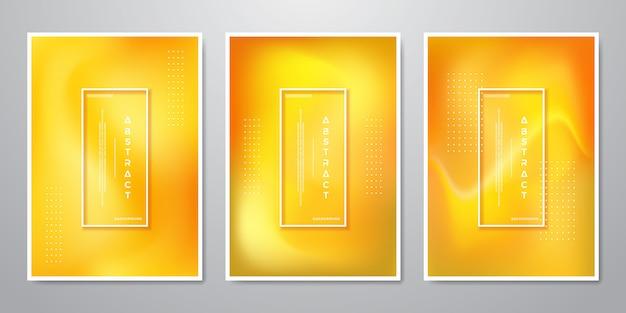 Абстрактные модные градиентные фигуры оранжевые фоны