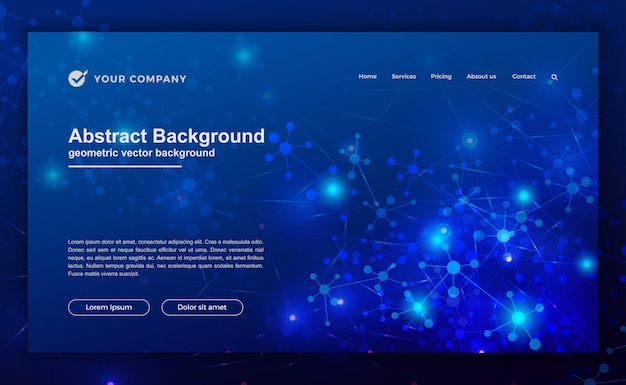ウェブサイトのデザインの未来的な背景。