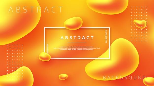 抽象的なオレンジ色の液体液体のベクトルの背景。