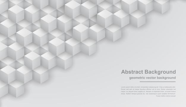 六角形の図形と抽象的な灰色のテクスチャ背景。
