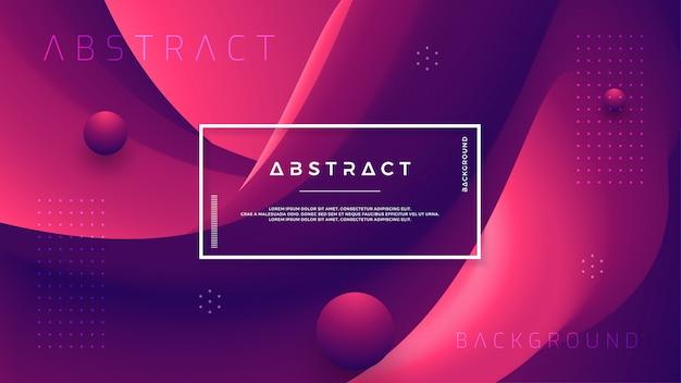 赤と濃い紫の組み合わせで抽象的なグラデーション波背景。