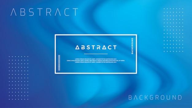 青い色で抽象的な波の流れの背景。
