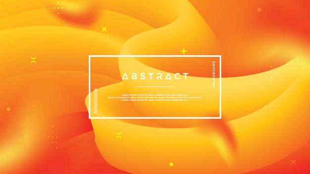 抽象的な波の流れオレンジ色の背景