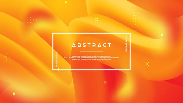 黄色とオレンジ色の抽象的な波の流れの背景。