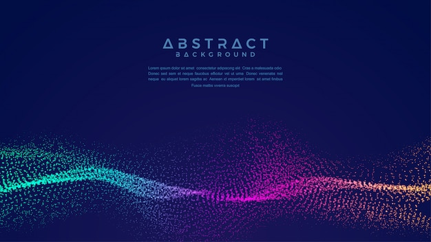 Динамический абстрактный фон потока частиц жидкости.