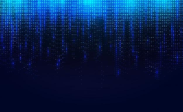 落下する発光粒子の背景。
