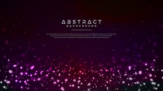 輝く抽象的な粒子の背景。