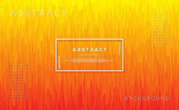 オレンジ色のフラットスタイルで動的テクスチャ背景デザイン。