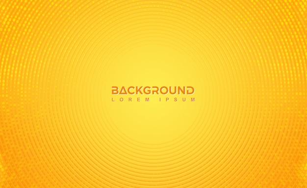 円形の線とドットでモダンなオレンジ色の背景。