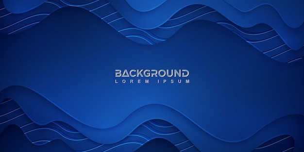 Синий абстрактный фон с волнистой текстурой
