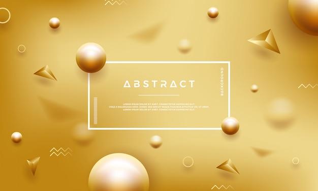 美しい黄金の真珠と抽象的な金の背景。